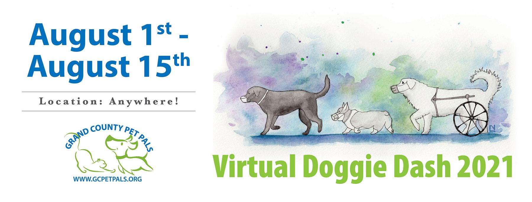 Virtual Doggie Dash 2021: August 1-15