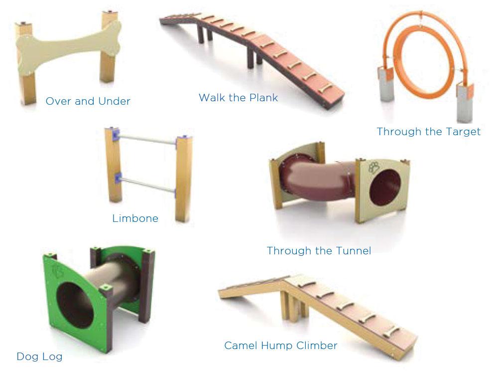 bark park agility equipment